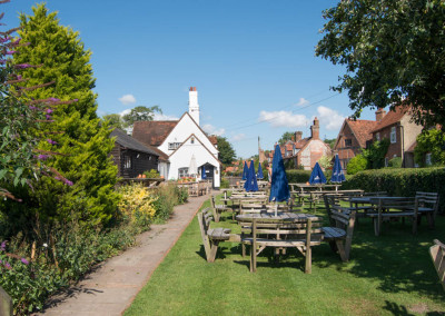 Turville pub garden