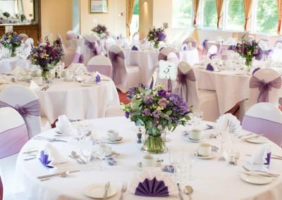 Reception in purple