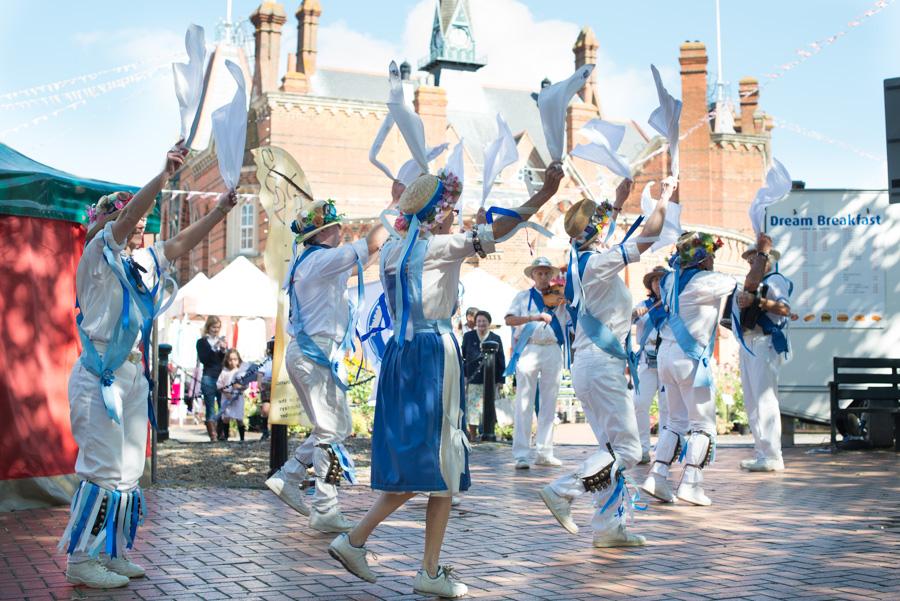 Morris dancing event, Wokingham