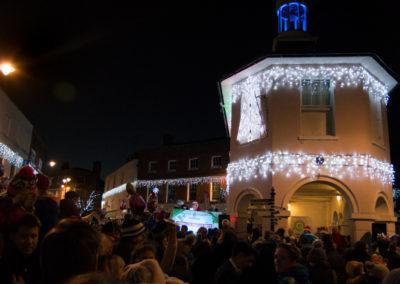 Christmas lights are on!