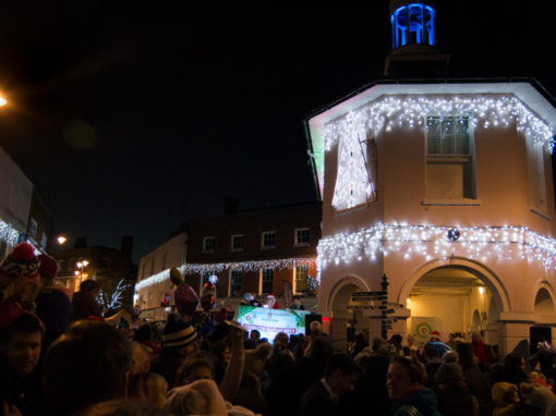 Godalming Christmas market and lights switch on 2017
