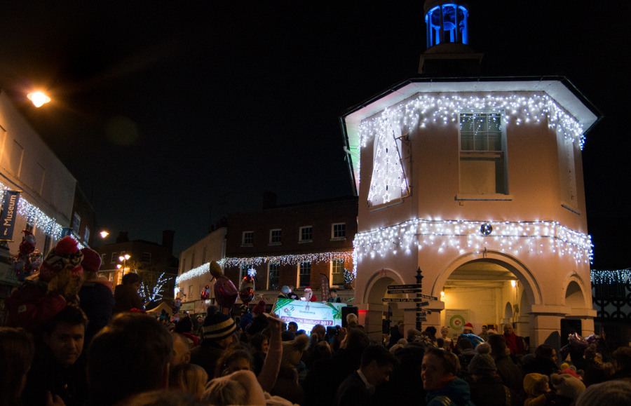 Godalming Christmas market and lights switch-on 2017